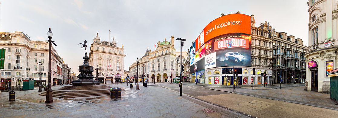 Piccadilly Circus at Dawn