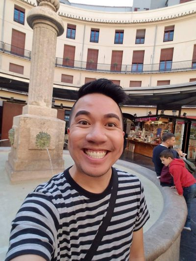 Alan Vu, during his first trip to Spain