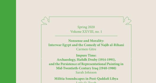 Arab Studies Journal, Spring 2020: Volume XXVIII, no. 1