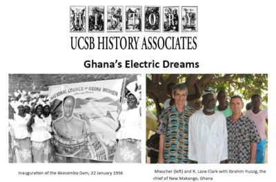 "flyer for History Associates to Feature ""Electric"" Presentation by Prof. Stephan Miescher"