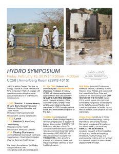 flyer for Hydro Symposium Feb. 2019