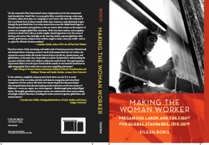 bookcover for Book Talk and Launch: Eileen Boris's Making the Woman Worker
