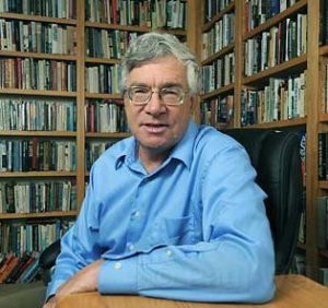 Professor Lichtenstein in his library