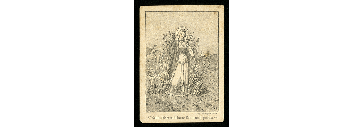 Saint Radegund Queen of France, Patroness of the Consumptives illustration