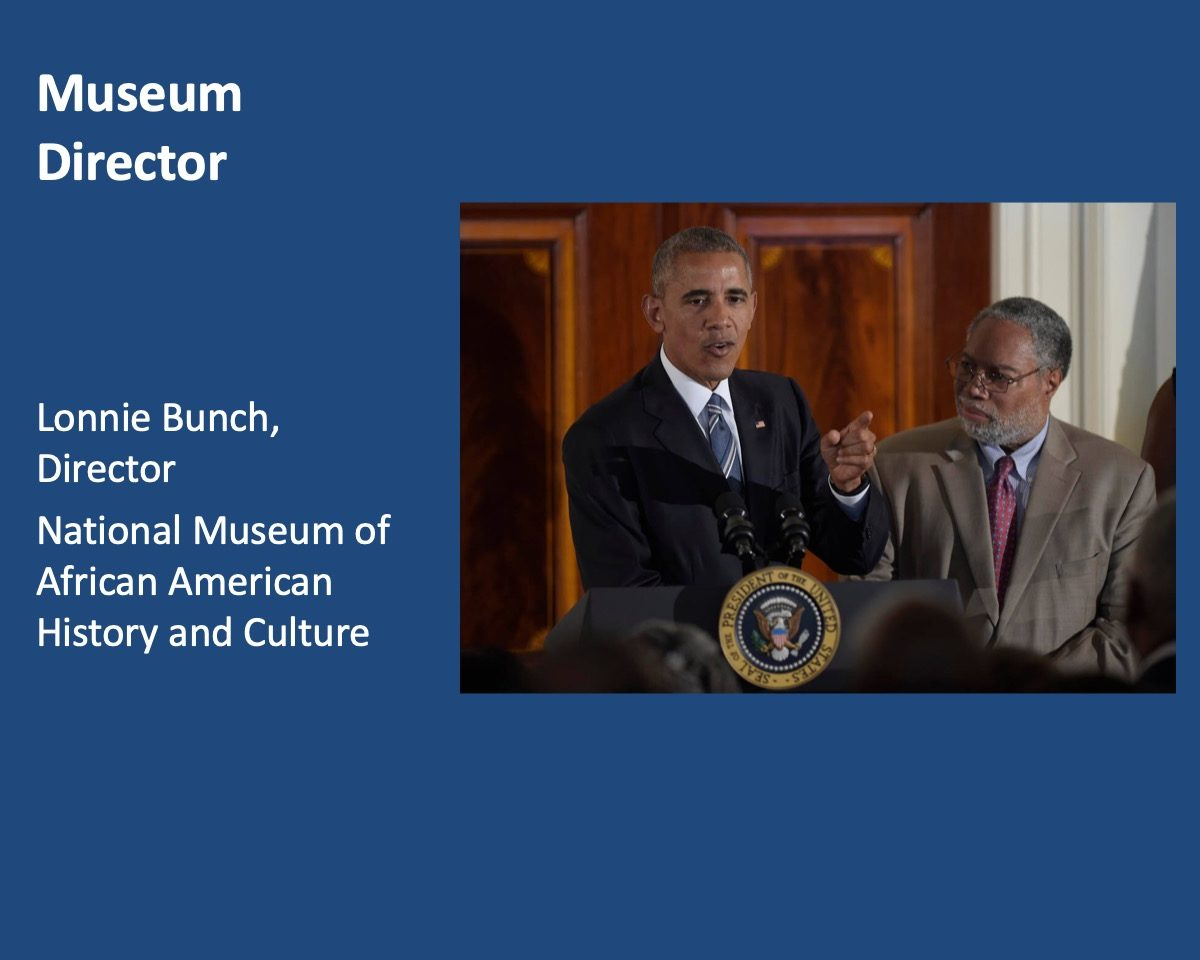 powerpoint slide about Lonnie Bunch