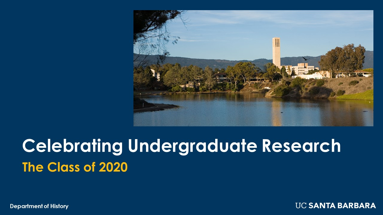 Slide for Celebrating Undergraduate Research (Class of 2020)