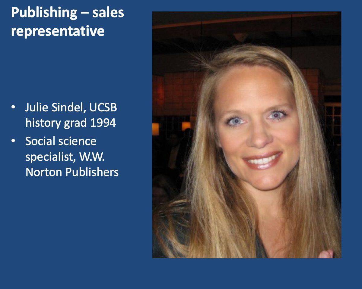 powerpoint slide about Julie Sindel