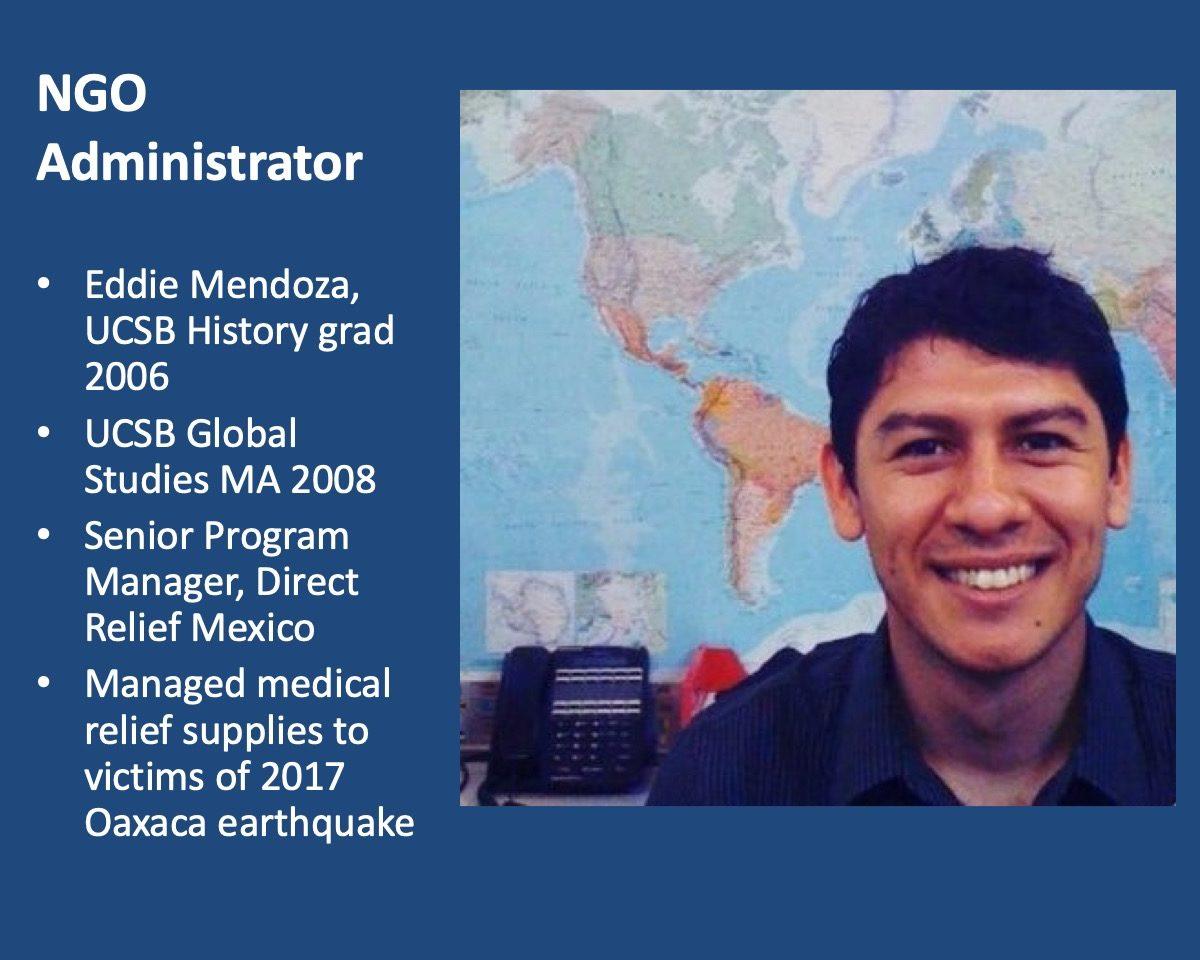 powerpoint slide about Eddie Mendoza