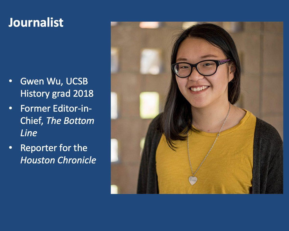 powerpoint slide about Gwen Wu