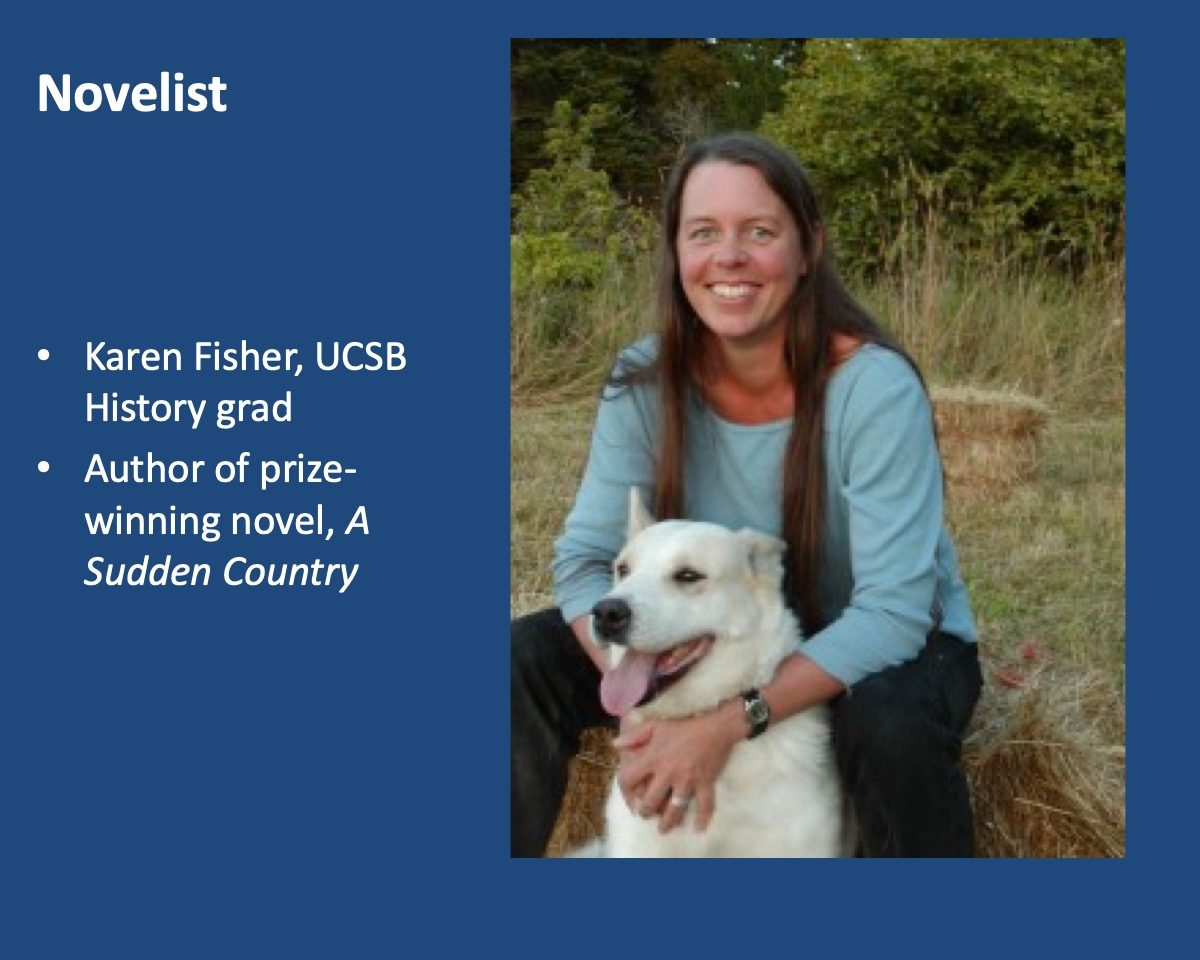 powerpoint slide about Karen Fisher