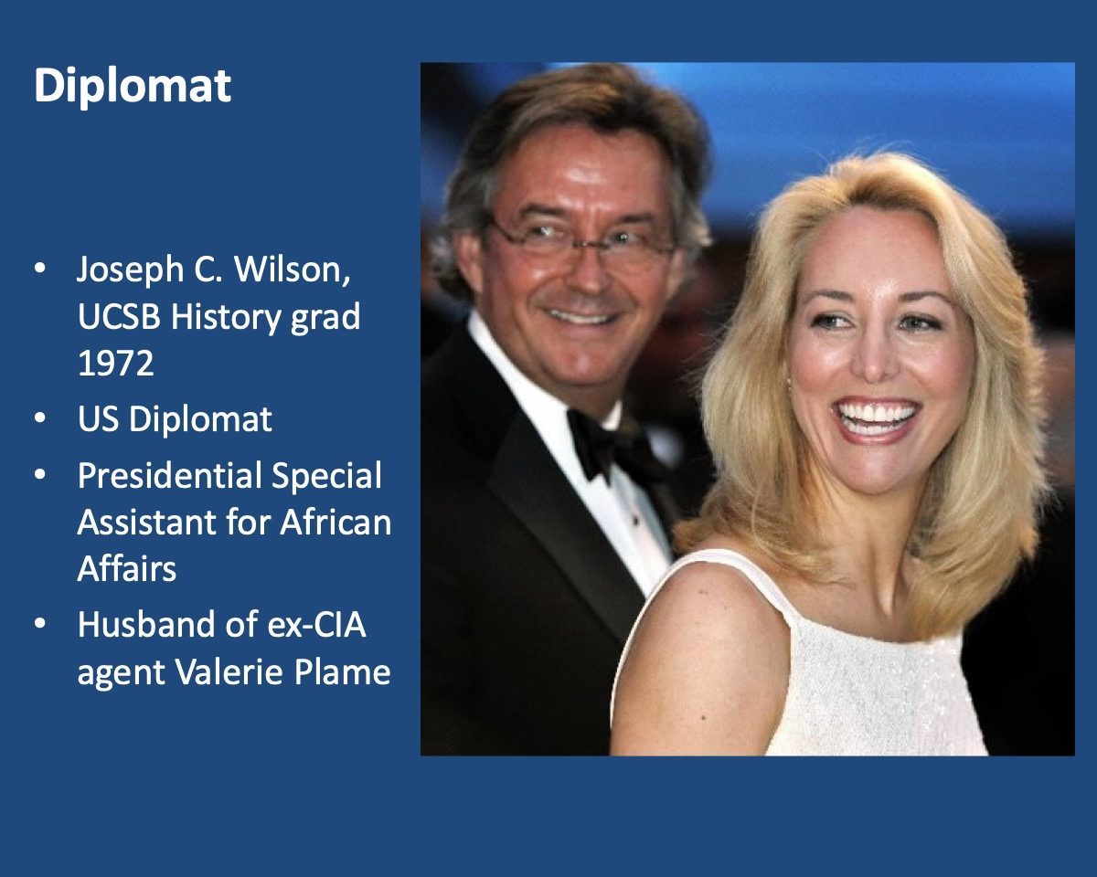 powerpoint slide about Joseph C. Wilson