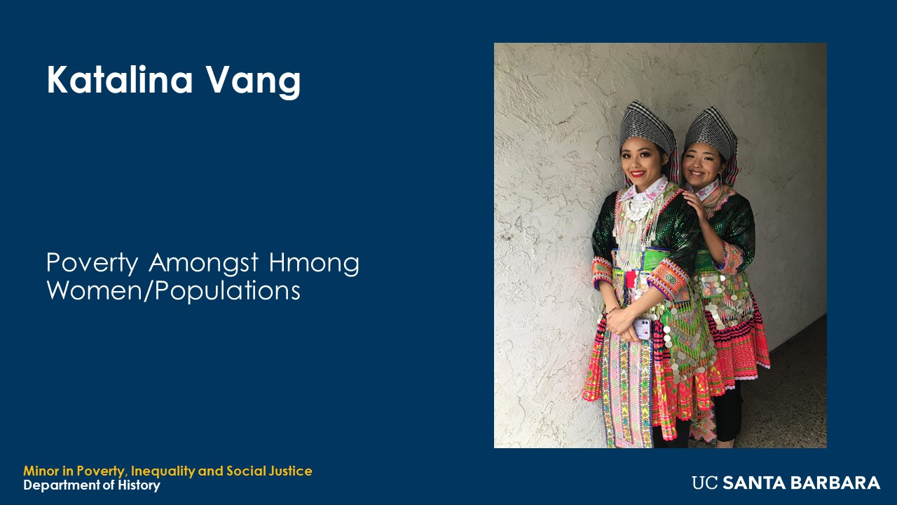 "Slide for Katalina Vang. ""Poverty Amongst Hmong Women/Populations"""