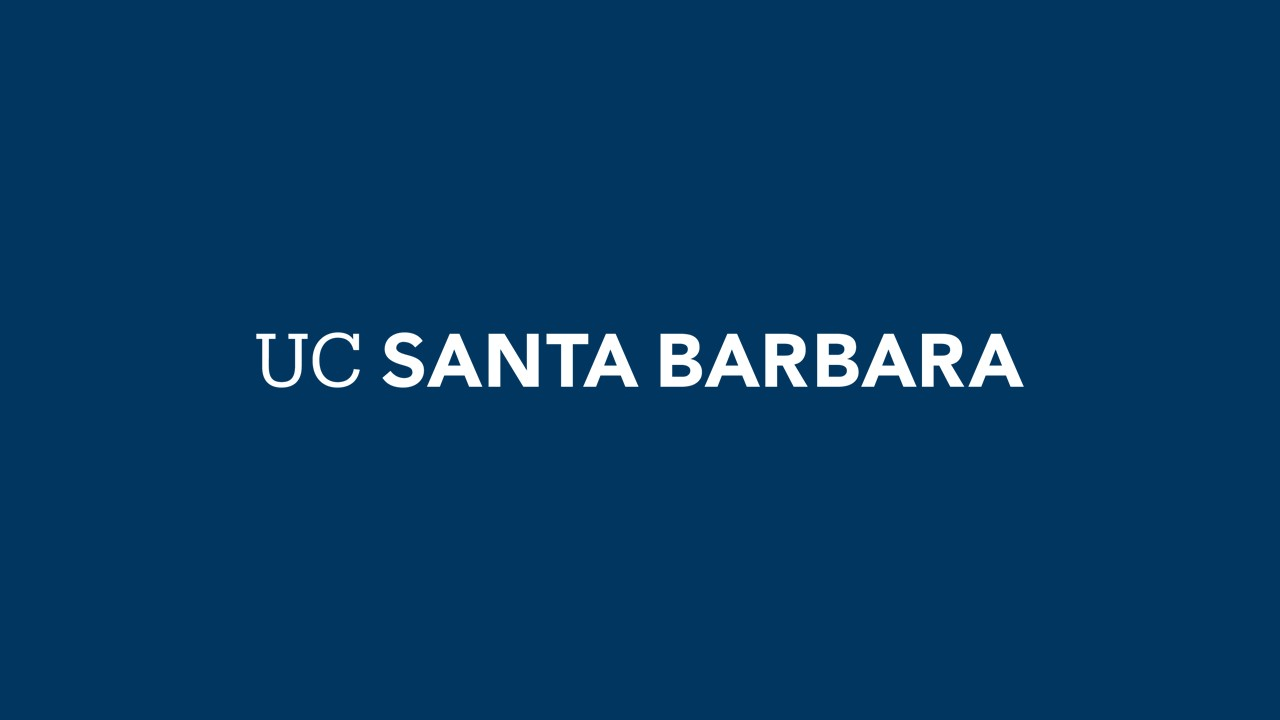 UCSB Logo. Navy background and white text