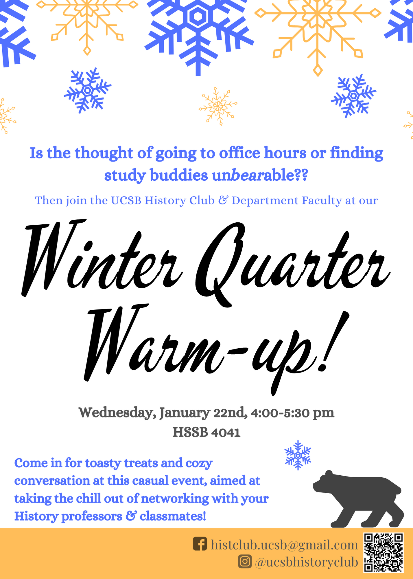 flyer for Winter Warm-Up 2020